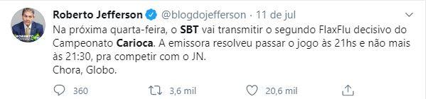 Torcidas vibram com final do Carioca no SBT
