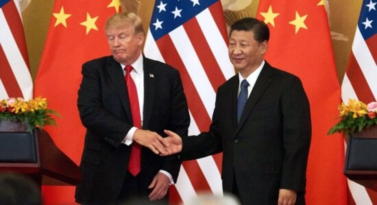 Presidentes Donald Trump, dos EUA, e Xi Jinping, da China