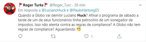 Internautas relembraram amizade entre Huck e Ricardo Nunes