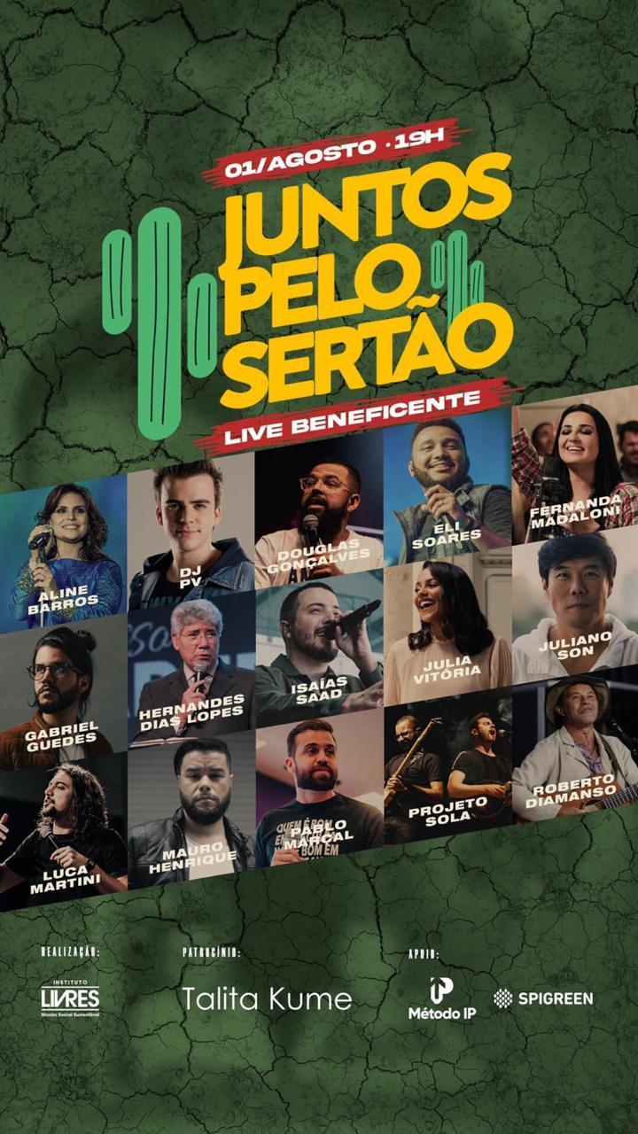 Juntos Pelo Sertão - 01/08 às 19h