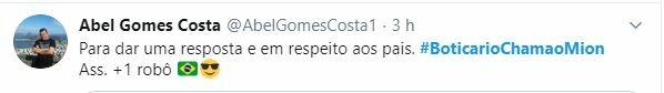 Web pede #BoticarioChamaoMion
