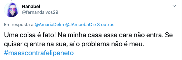 Mães se unem à Antonia nas redes: #MãesContraFelipeNeto
