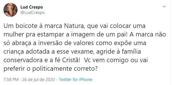 Internautas promoveram boicote à Natura