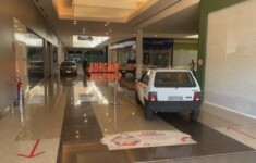 Shopping liberou a circulação de carros nos corredores