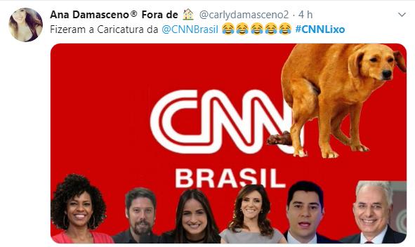 Internet se revolva e lança campanha #CNNLixo