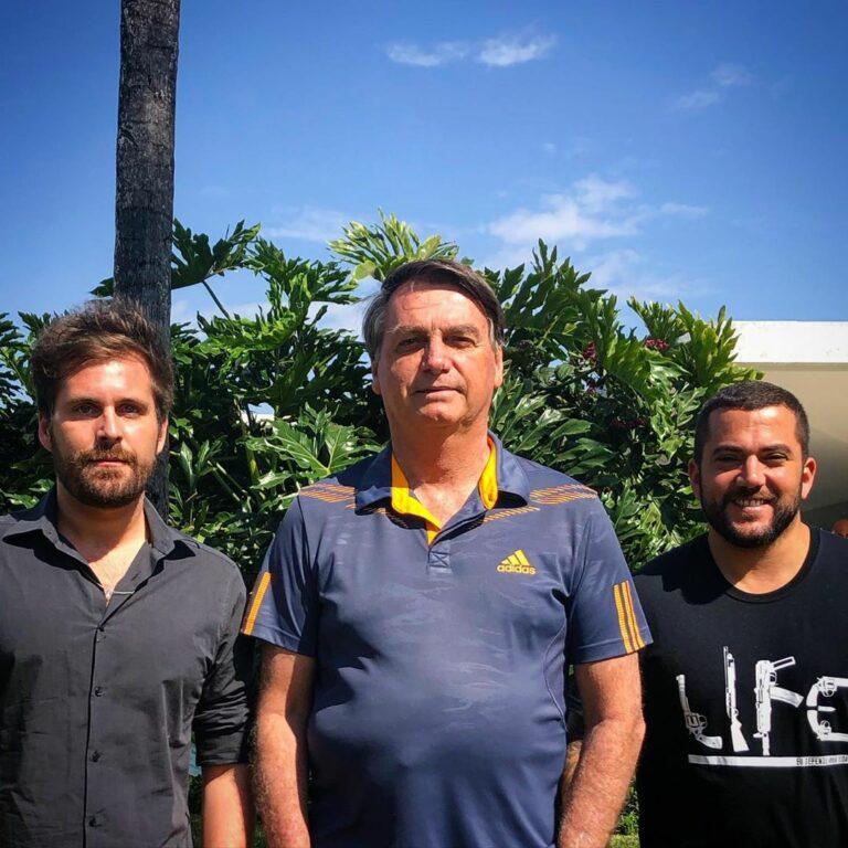 Thiago Gagliasso, Jair Bolsonaro e Carlos Jordy