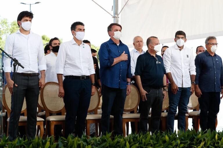 Bolsonaro participa de inauguração em Belém do Pará