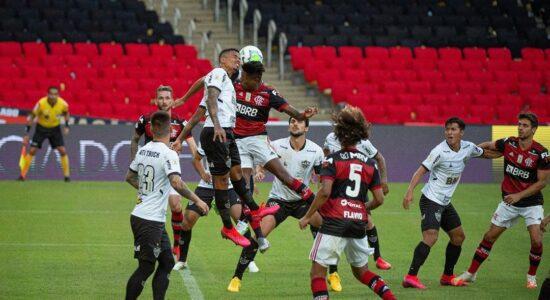 Jogo entre Flamengo e Atlético-MG registrou baixa audiência em SP