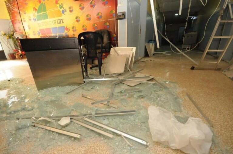 Igreja ficou destruída com a explosão no porto de Beirute