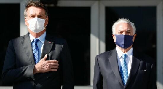 Presidente Jair Bolsonaro e Michel Temer