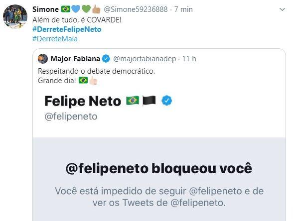 Rodrigo Maia e Felipe Neto viraram assunto no Twitter