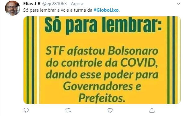 Globo recebeu chuva de críticas na internet