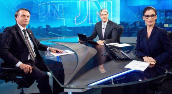 Jair Bolsonaro durante o debate eleitoral na Rede Globo
