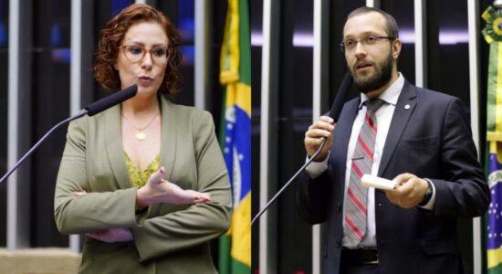Deputados Carla Zambelli e Filipe Barros defendem a castração química de estupradores
