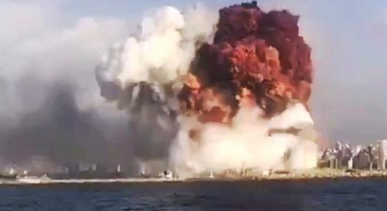 Explosão em zona portuária sacudiu Beirute, capital do Líbano