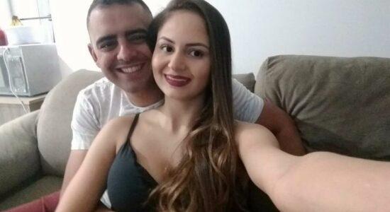 Bianca Romando Magri e o policial José Valdir de Oliveira Junior