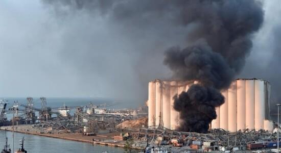 Forte explosão sacode a cidade de Beirute, capital do Líbano