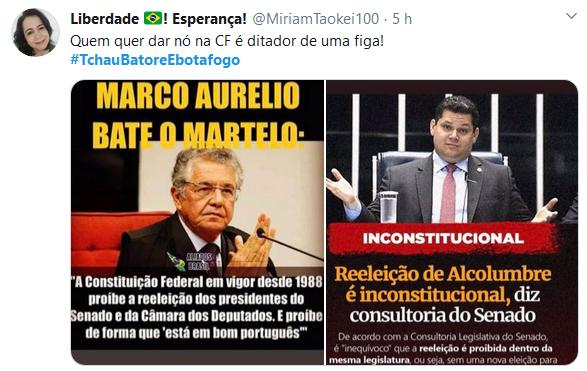 Reeleição de Maia e Alcolumbre volta a ser criticada na internet
