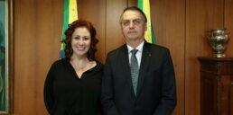 Deputada Carla Zambelli e presidente Jair Bolsonaro
