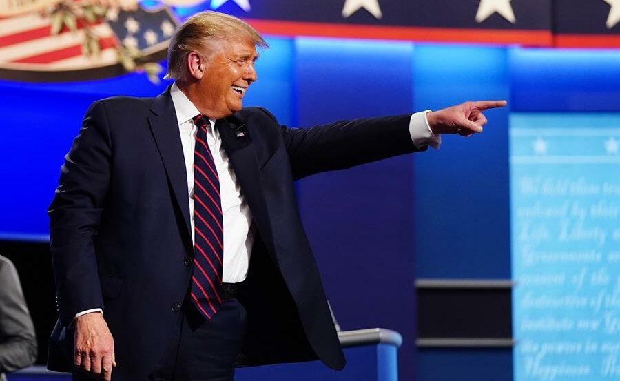 Donald Trump durante primeiro debate presidencial