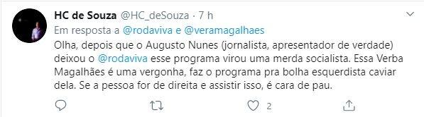 Internautas criticaram as declarações do ex-Globo
