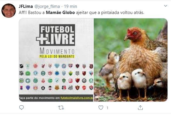 Internautas ironizam apoio dos clubes à Globo