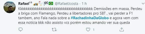Web volta a comentar sobre a #RachadinhaDaGlobo