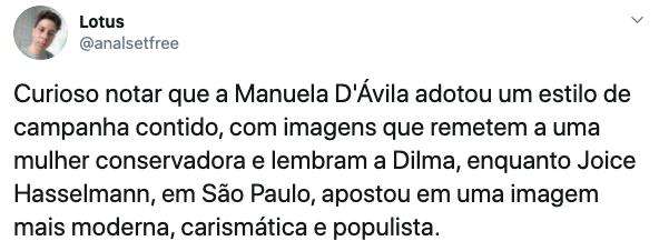 Material de campanha de Manuela D'Ávila deu o que falar nas redes