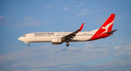 Avião da companhia aérea Qantas