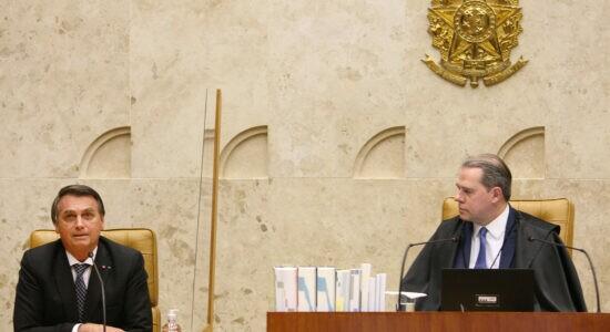 Presidente Jair Bolsonaro e ministro Dias Toffoli, do STF