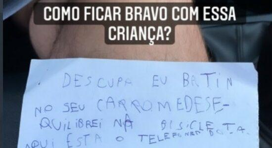Bilhete escrito por Benício