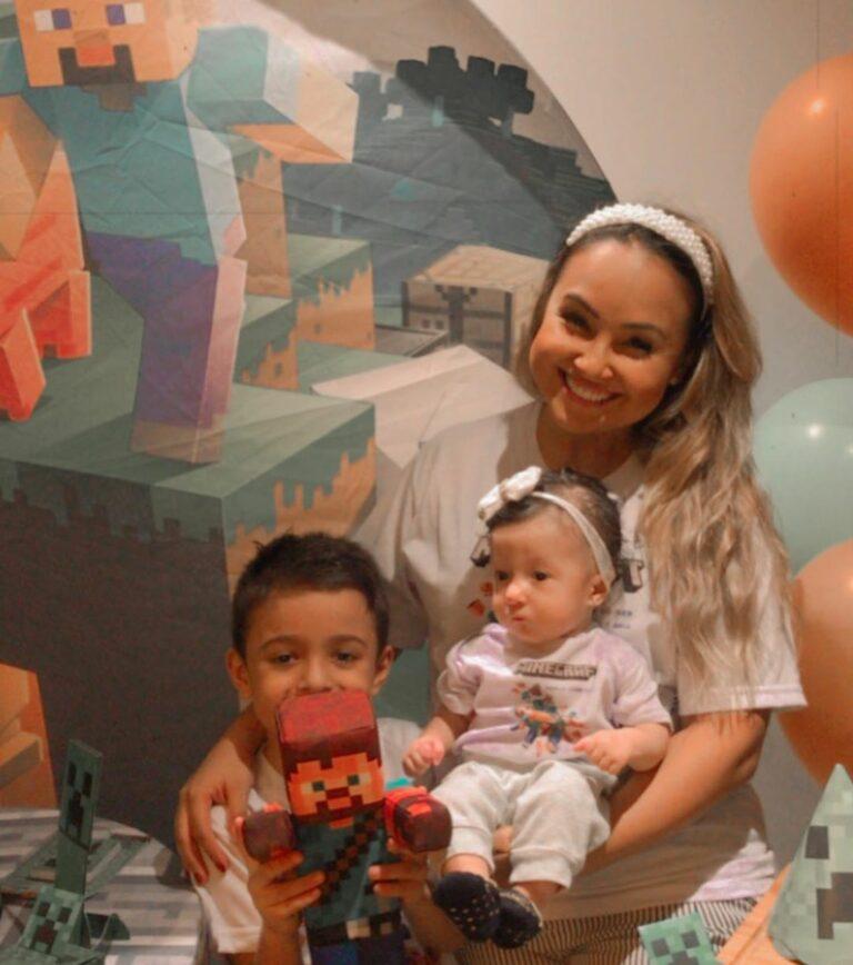 Bruna Karla comemora aniversário de seu filho, Ben