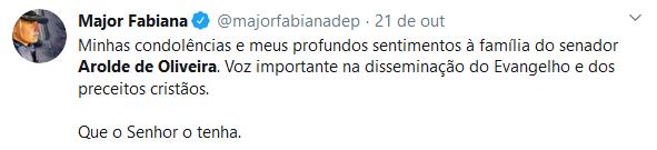 Amigos lamentam a morte do senador Arolde de Oliveira