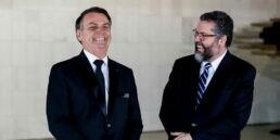 Presidente Jair Bolsonaro e o ministro Ernesto Araújo