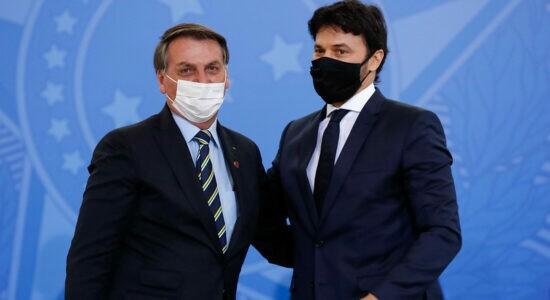 Presidente Jair Bolsonaro e Fábio Faria