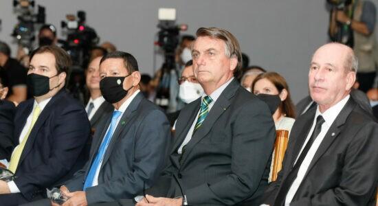 Bolsonaro participou de workshop sobre o caça Gripen