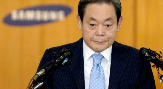 Lee Kun-hee, presidente da Samsung, morreu