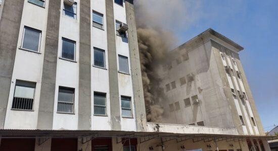 Incêndio atingiu o Hospital Federal de Bonsucesso
