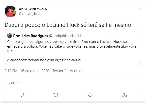 Usuários das redes sociais compartilharam fotos de Huck com personalidades investigadas