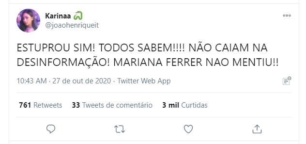 Caso de blogueira que denunciou crime sexual voltou aos destaques do Twitter