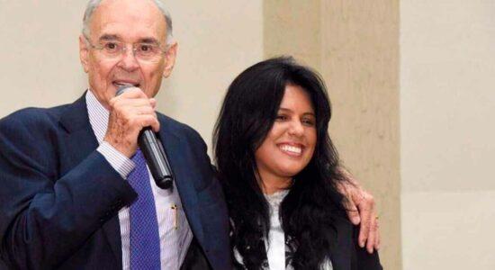 Senador Arolde de Oliveira e deputada Rosane Felix