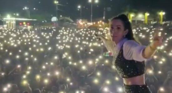 Show no Pará teve enorme aglomeração