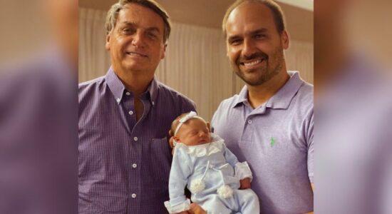 Jair Bolsonaro visitou a neta Geórgia pela primeira vez
