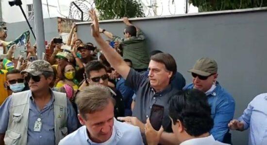 Presidente Jair Bolsonaro em viagem ao Maranhão