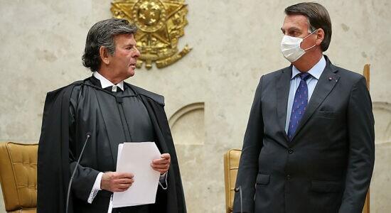Ministro Luiz Fux e o presidente Jair Bolsonaro