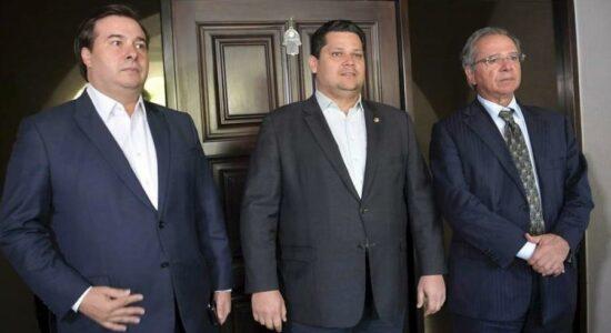 Rodrigo Maia, Davi Alcolumbre e Paulo Guedes