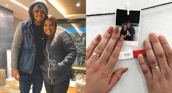 Mateus Pereira anuncia gravidez da esposa