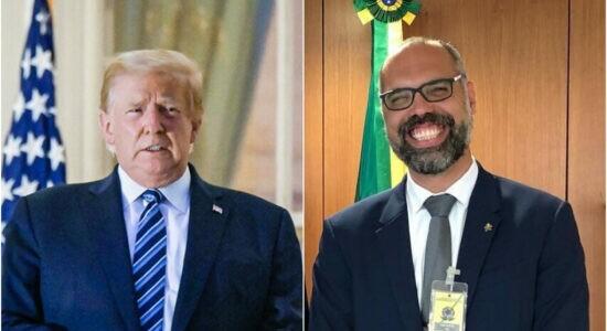 Presidente dos EUA, Donald Trump, e Allan dos Santos
