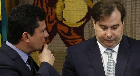 Ex-ministro Sergio Moro e presidente da Câmara Rodrigo Maia