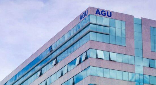 Topo do prédio da Advocacia-Geral da União (AGU)